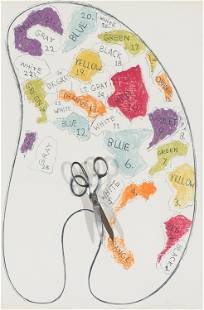 Jim Dine Four Palettes No. 3 (Galerie Mikro 58), 1969