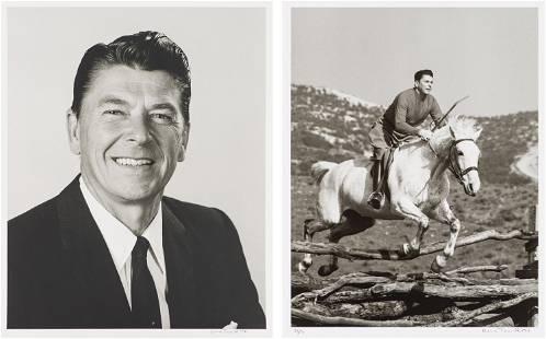Gene Trindl (2) Portrait of Ronald Reagan & Ronald...