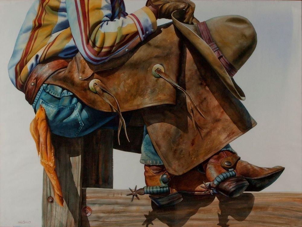 "Nelson Boren, ""Cowboy on Post"""
