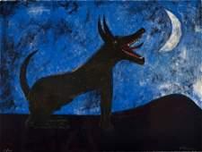 Rufino Tamayo,  Dog Barking at the Moon