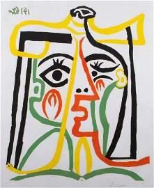 Pablo Picasso  'Portrait de Jacqueline au Chapeau de