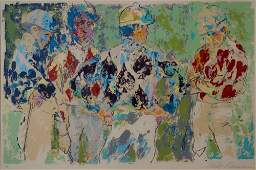 LeRoy Neiman  Four Jockeys