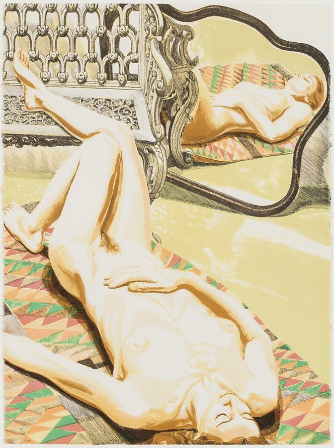 Philip Pearlstein (American, b. 1924) 'Nude with Iron