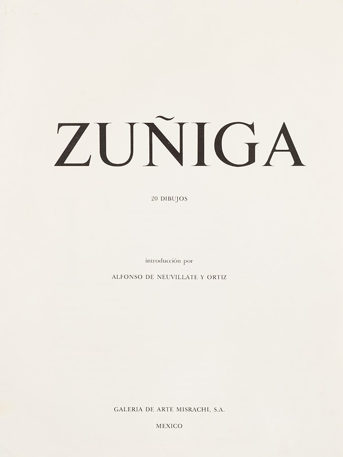 Francisco Zúñiga (Mexican, 1912-1998) 'ZUNIGA 20 - 2