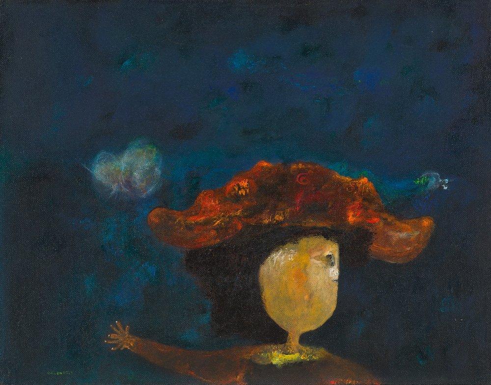 Felipe Orlando (Cuban/Mexican, 1911-2001) 'La poetisa