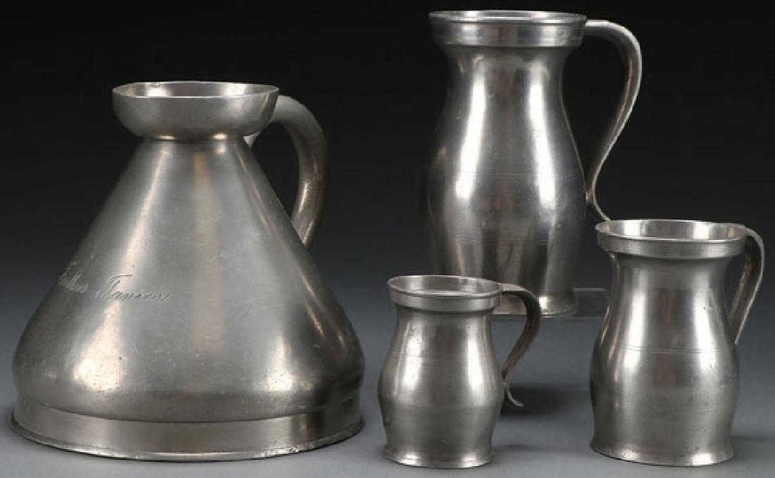 EARLY ENGLISH AND AMERICAN PEWTER MEASUERS