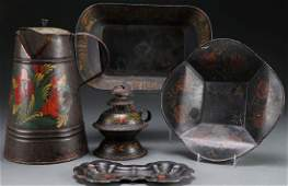 A COLLECTION OF 19TH CENTURY TOLEWARE