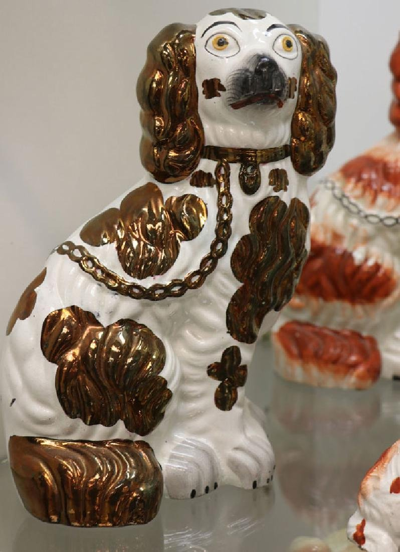 A COLLECTION OF TWELVE STAFFORDSHIRE SPANIELS - 2