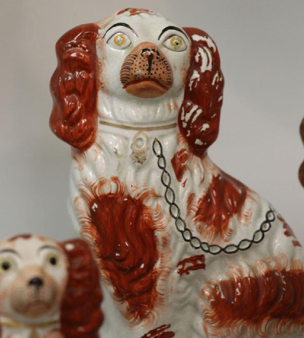 A COLLECTION OF TWELVE STAFFORDSHIRE SPANIELS - 4