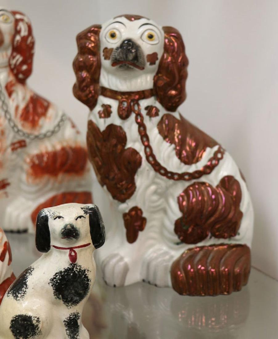 A COLLECTION OF TWELVE STAFFORDSHIRE SPANIELS - 5