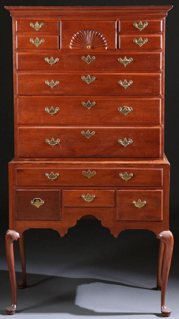 A VERY FINE EARLY AMERICAN QUEEN ANNE HIGHBOY