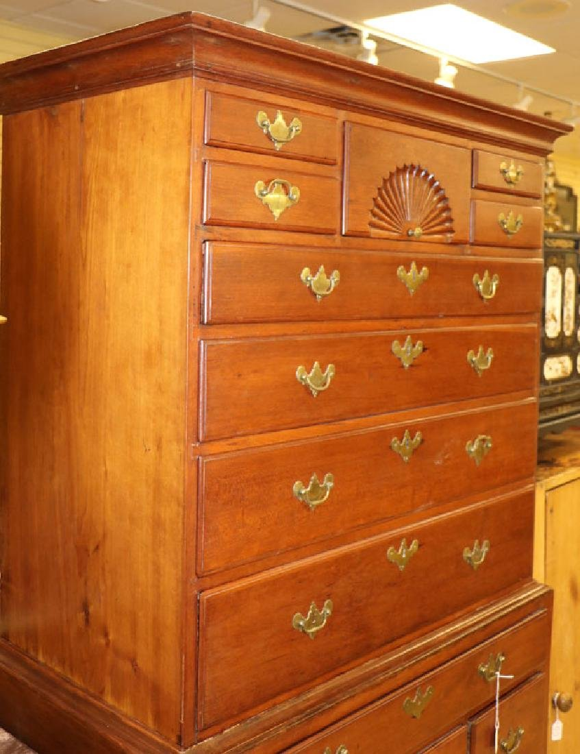 A VERY FINE EARLY AMERICAN QUEEN ANNE HIGHBOY - 2