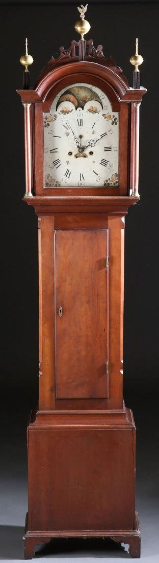 AN AMERICAN FEDERAL PERIOD TALL CASE CLOCK