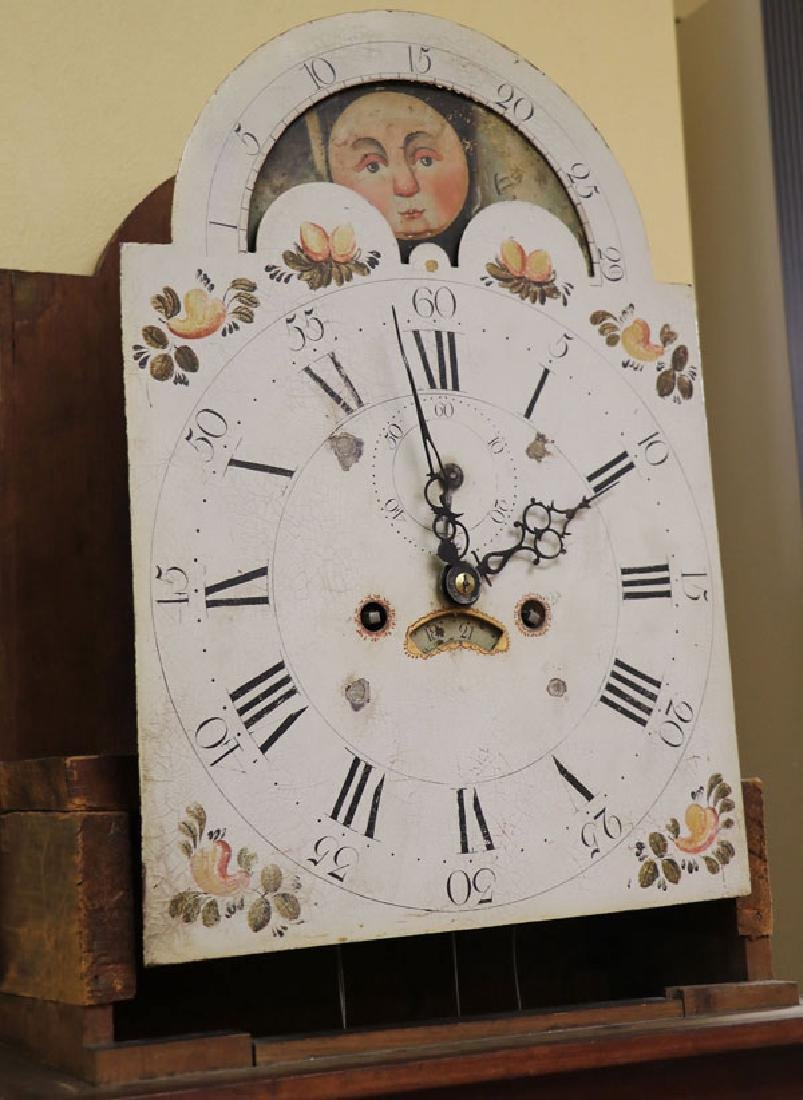 AN AMERICAN FEDERAL PERIOD TALL CASE CLOCK - 2