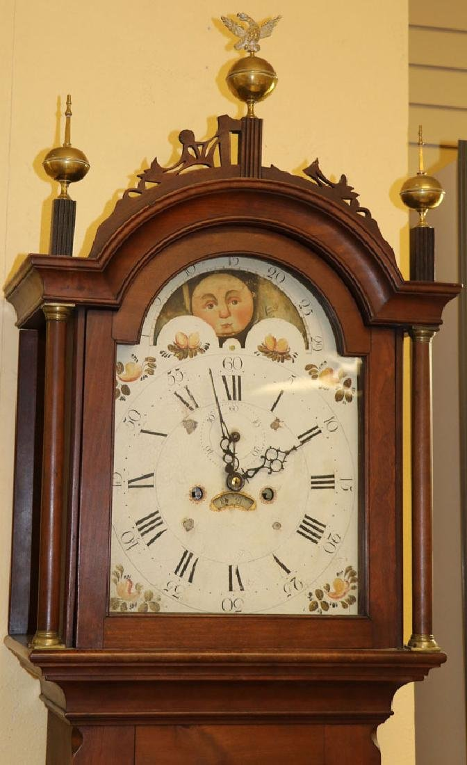 AN AMERICAN FEDERAL PERIOD TALL CASE CLOCK - 6