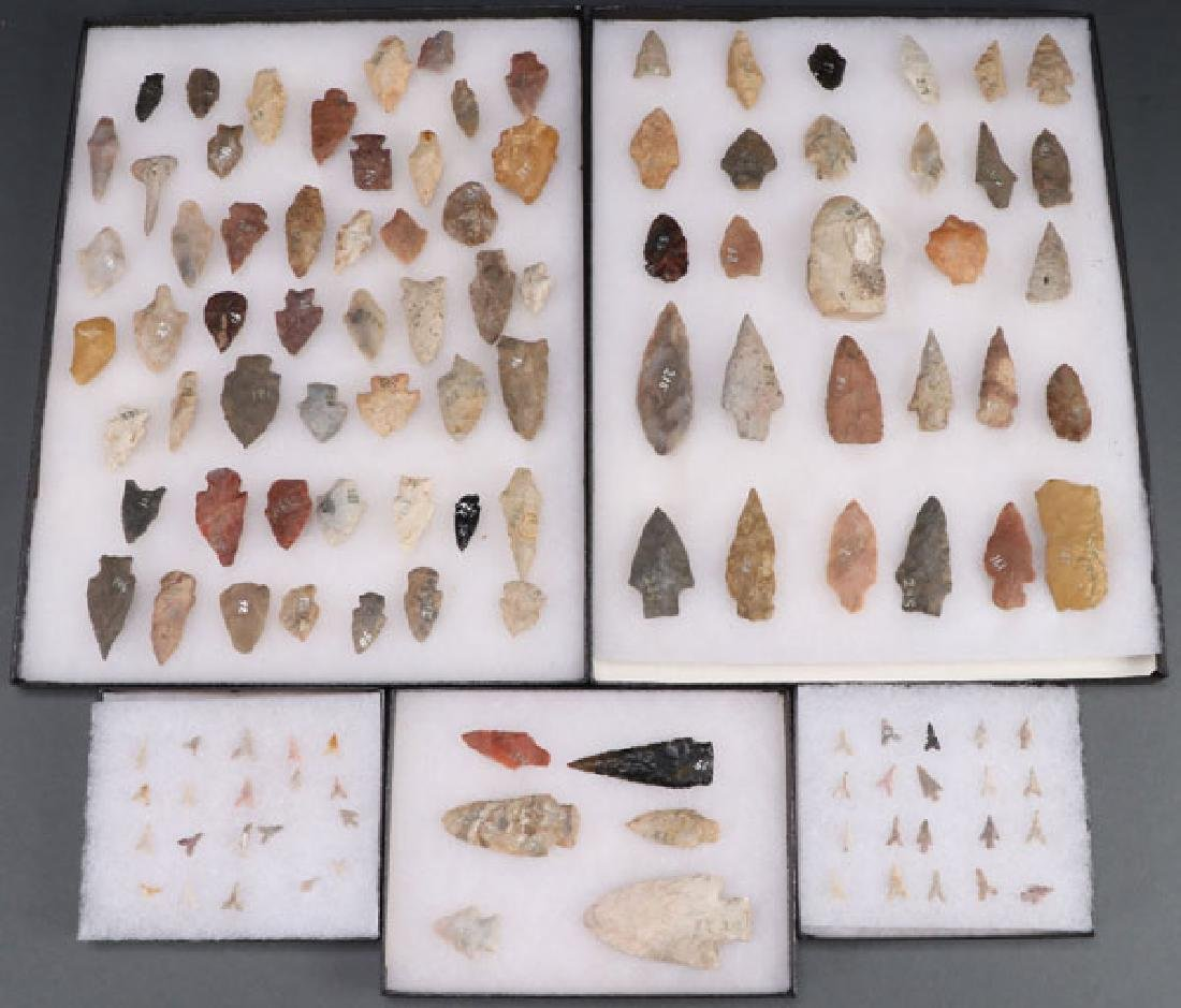 125 NATIVE AMERICAN STONE ARTIFACTS AND POINTS