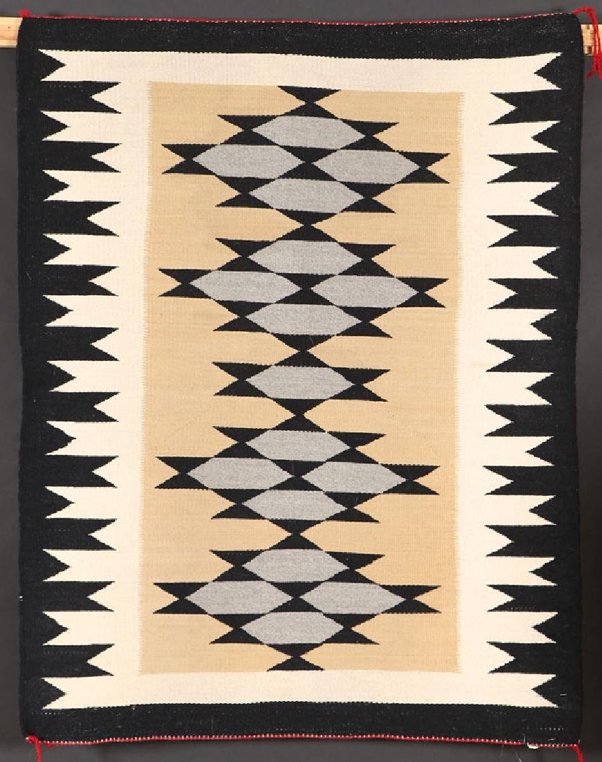 A GROUP OF FIVE SOUTHWEST NAVAJO HANDWOVEN RUG - 3