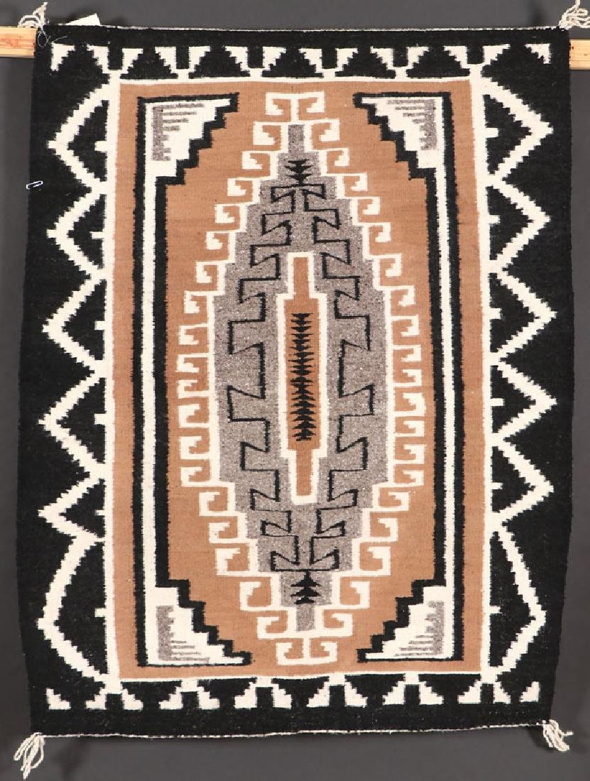 A GROUP OF FOUR SOUTHWEST NAVAJO HANDWOVEN RUG - 2