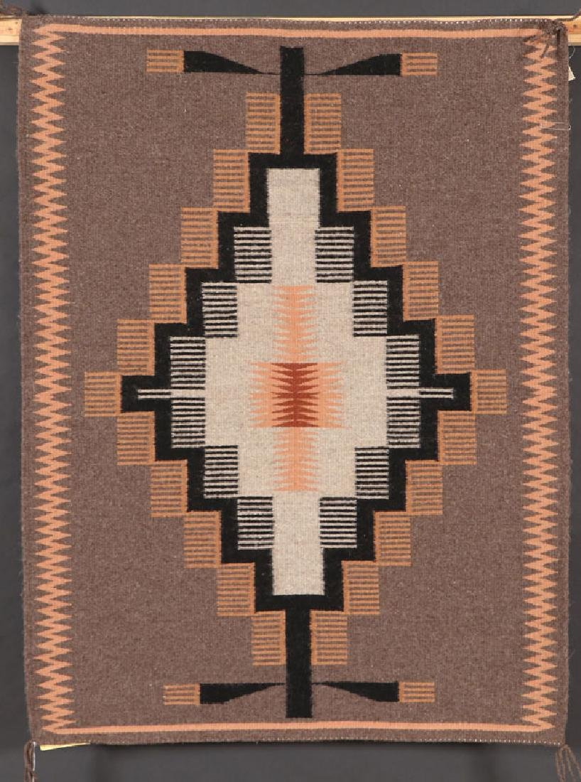 A GROUP OF FOUR SOUTHWEST NAVAJO HANDWOVEN RUG - 3