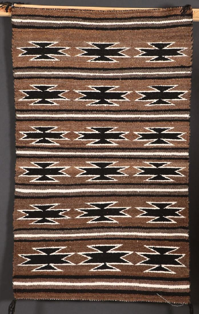 A GROUP OF FOUR SOUTHWEST NAVAJO HANDWOVEN RUG - 4