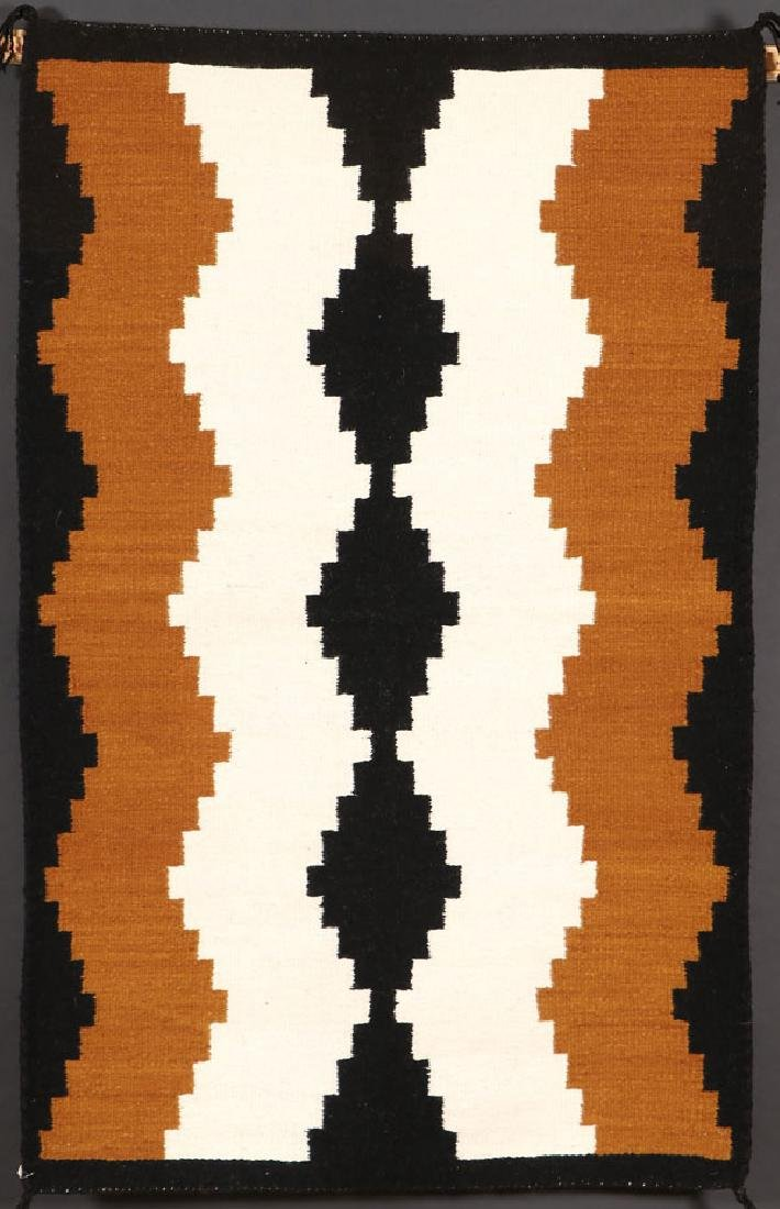 TWO SOUTHWEST NAVAJO HANDWOVEN WOOL RUGS - 2