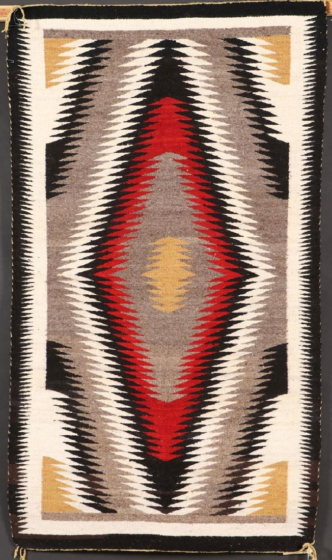 TWO SOUTHWEST NAVAJO HANDWOVEN WOOL RUGS