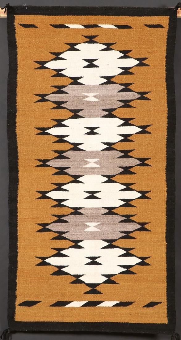3 SOUTHWEST NAVAJO HANDWOVEN WOOL RUGS