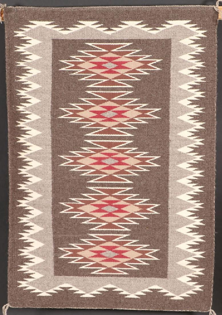 3 SOUTHWEST NAVAJO HANDWOVEN WOOL RUGS - 3