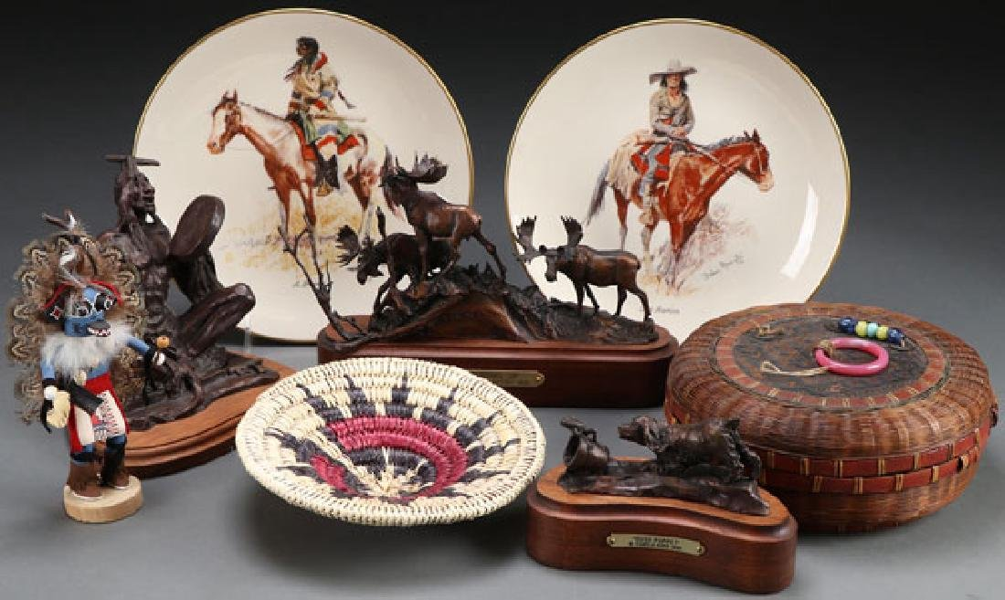 A NATIVE AMERICAN THEMED DECORATIVE ARTS GROUP