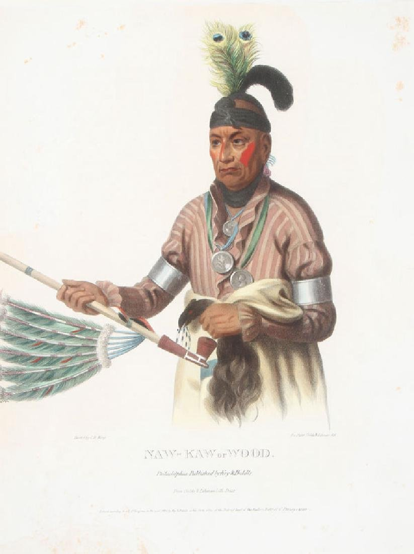 MCKENNY & HALL'S HISTORY INDIAN TRIBES N. AMERICA - 2
