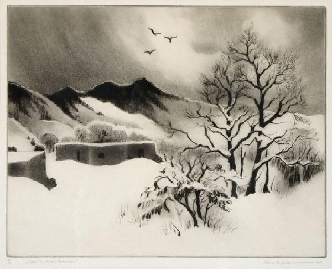 A GROUP OF THREE SOUTHWEST ETCHINGS BY GENE KLOSS