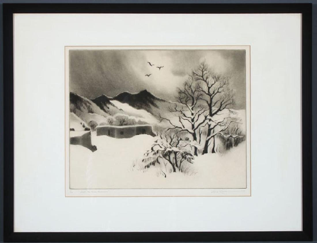 A GROUP OF THREE SOUTHWEST ETCHINGS BY GENE KLOSS - 2