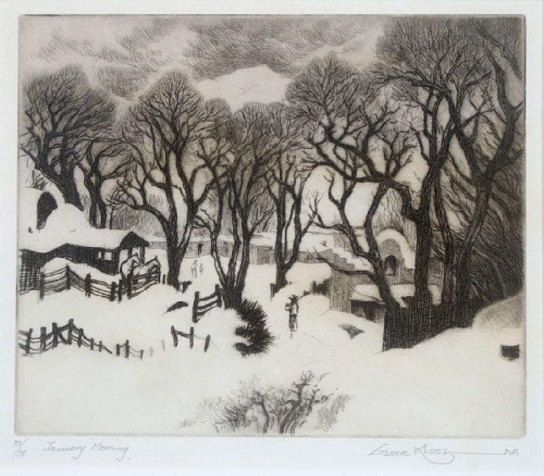 A GROUP OF THREE SOUTHWEST ETCHINGS BY GENE KLOSS - 4