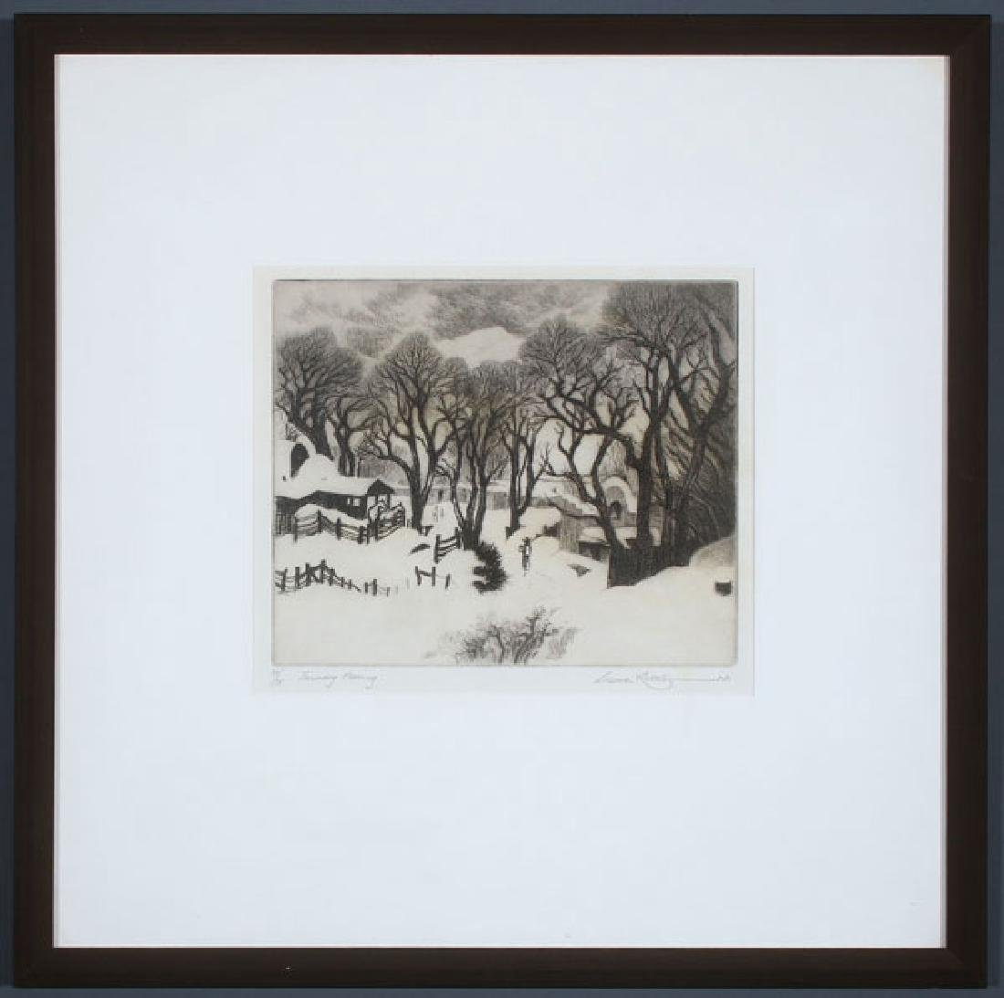 A GROUP OF THREE SOUTHWEST ETCHINGS BY GENE KLOSS - 5