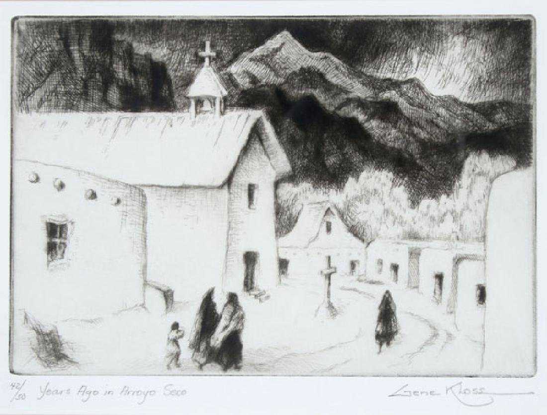 A GROUP OF THREE SOUTHWEST ETCHINGS BY GENE KLOSS - 7