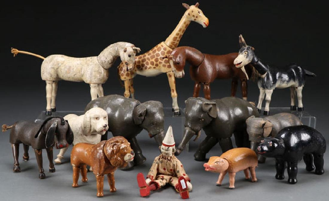 A COLLECTION OF 13 SCHOENHUT ANIMALS