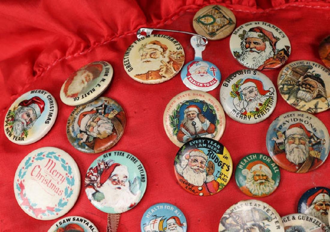 EARLY DEPARTMENT AND TOY STORE SANTA PINS - 2