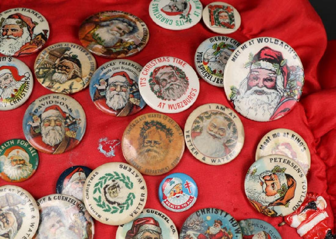 EARLY DEPARTMENT AND TOY STORE SANTA PINS - 3