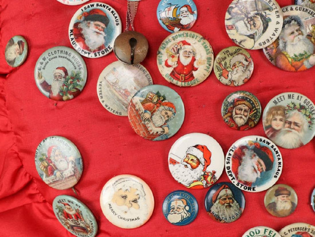 EARLY DEPARTMENT AND TOY STORE SANTA PINS - 4