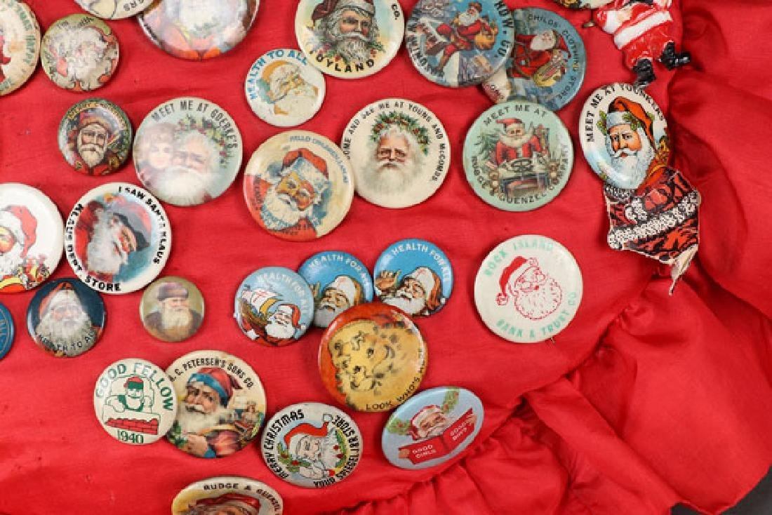 EARLY DEPARTMENT AND TOY STORE SANTA PINS - 5