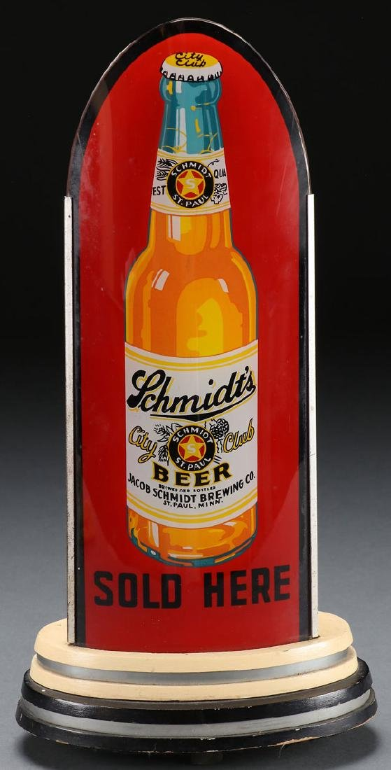 "A RARE SCHMIDT'S BEER ""BULLET"" LIGHTED SIGN"