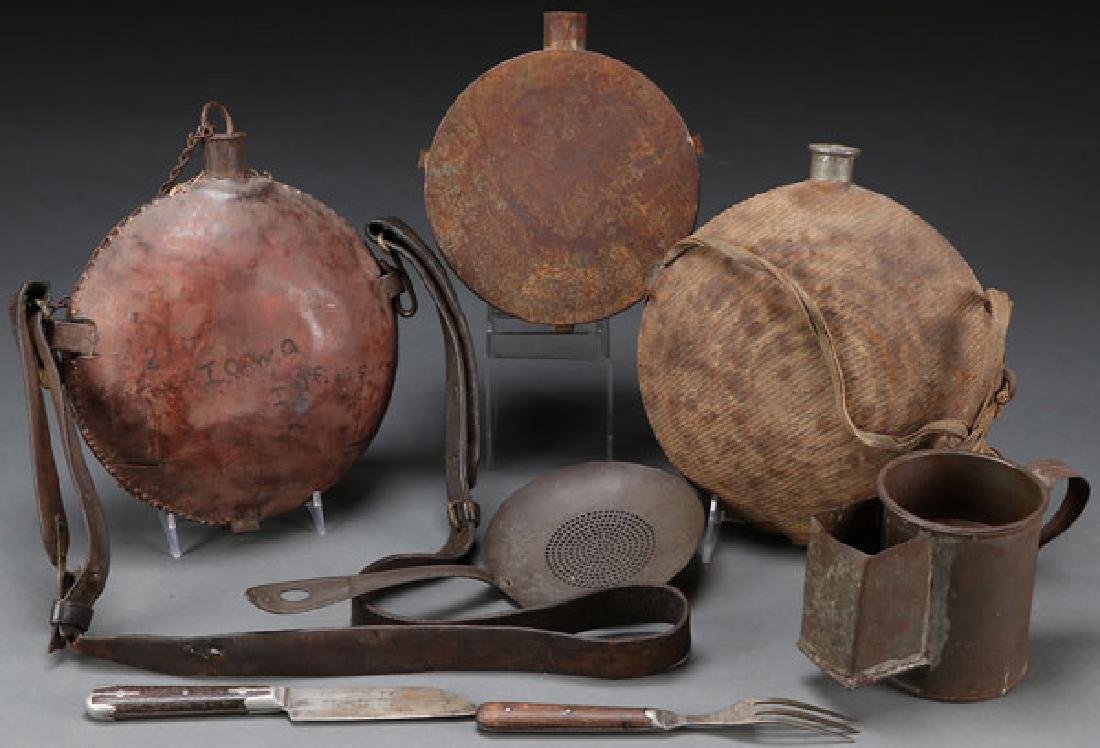 CIVIL WAR CANTEEN AND ACCOUTREMENTS