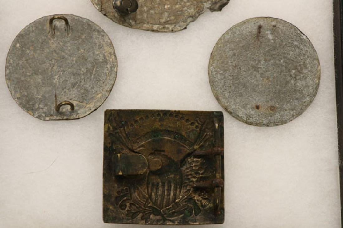 A GROUP OF SEVEN CIVIL WAR BELT AND SLING PLATES - 3