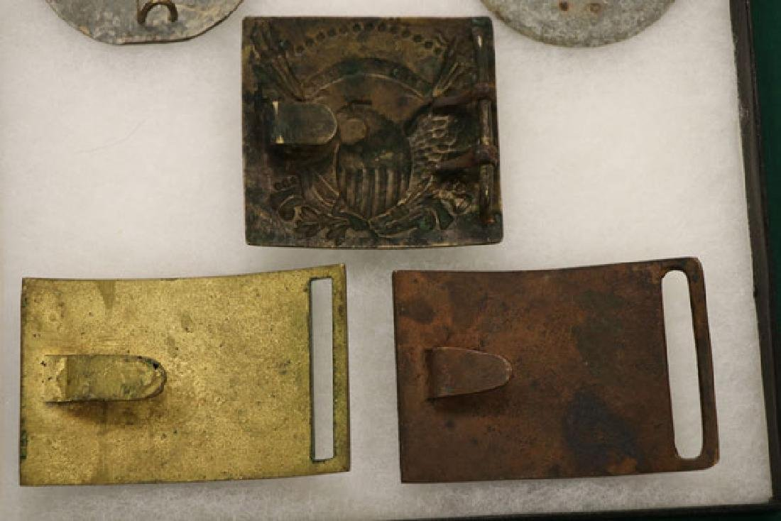 A GROUP OF SEVEN CIVIL WAR BELT AND SLING PLATES - 4