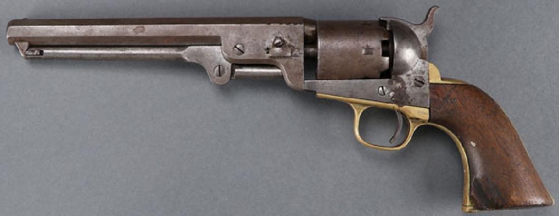 A CIVIL WAR COLT M1851 NAVY REVOLVER
