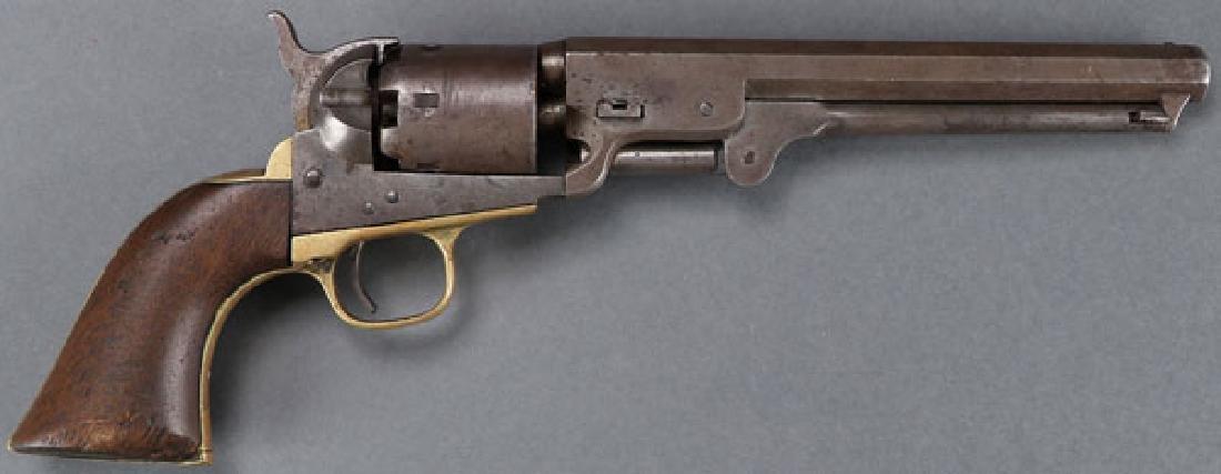 A CIVIL WAR COLT M1851 NAVY REVOLVER - 2