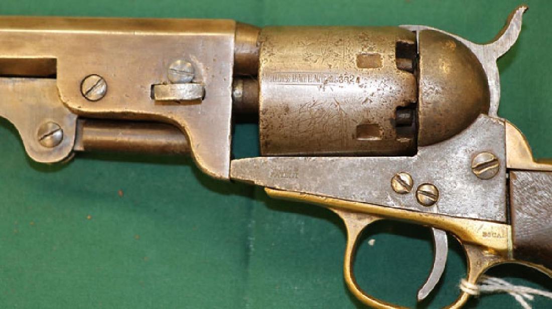 A CIVIL WAR COLT M1851 NAVY REVOLVER - 3