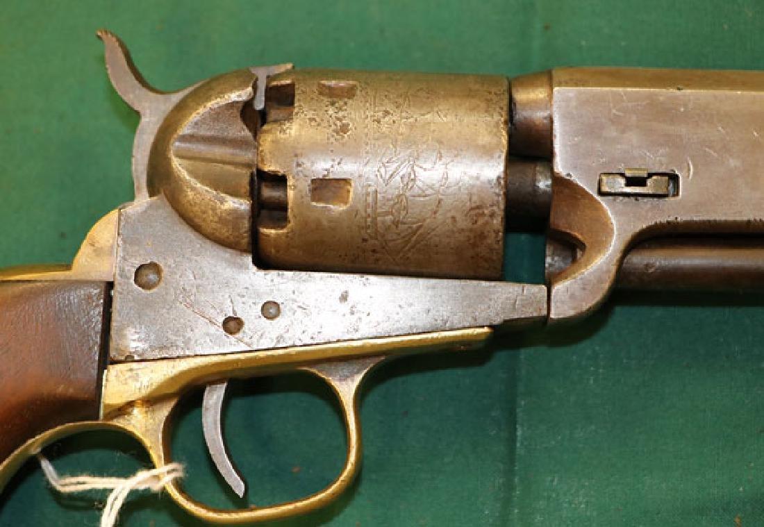 A CIVIL WAR COLT M1851 NAVY REVOLVER - 4