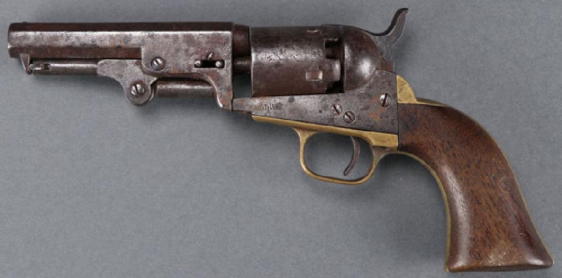 A PAIR OF CIVIL WAR REVOLVERS, COLT AND MANHATTAN