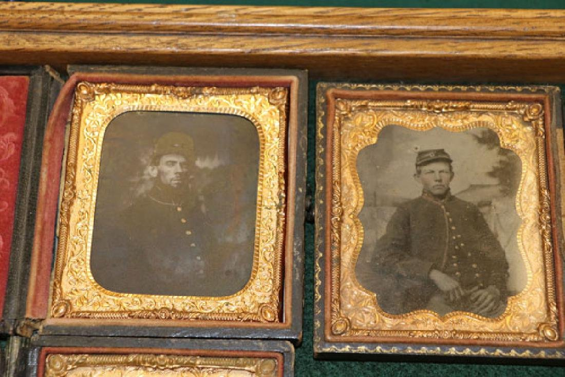 A GROUP OF 12 CASED CIVIL WAR SOLDIER PHOTOGRAPHI - 2